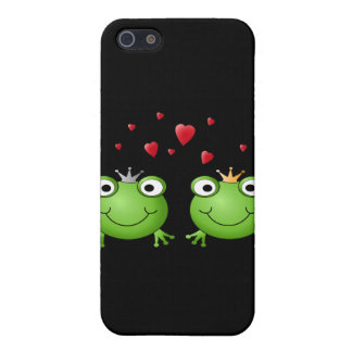 Frog Couple with hearts. iPhone 5 Cases