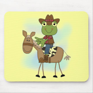 Frog Cowboy With Horse Tshirts and Gifts Mouse Pad