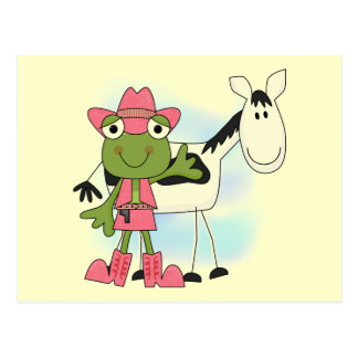 Frog Cowgirl Tshirts and Gifts Postcard