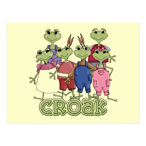 Frog Croak Tshirts and Gifts Postcards