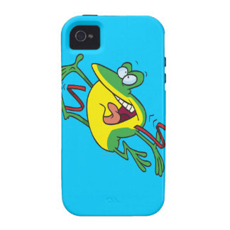 frog crossing finish line cartoon Case-Mate iPhone 4 cases