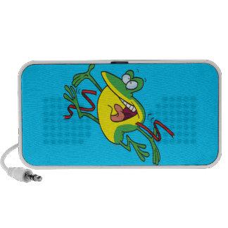frog crossing finish line cartoon speakers