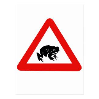 Frog Crossing, Traffic Sign, UK Postcard