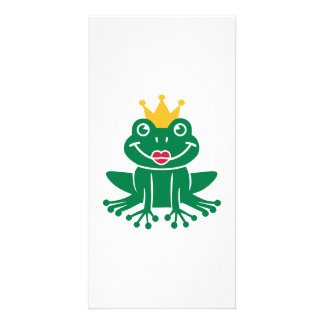 Frog crown photo card