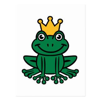 Frog crown postcard