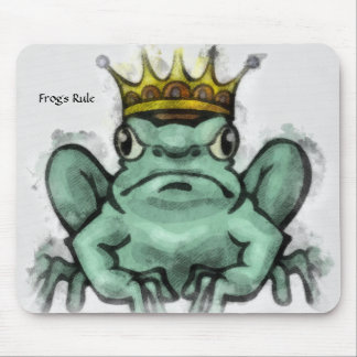 Frog Crowned King Mouse Pad