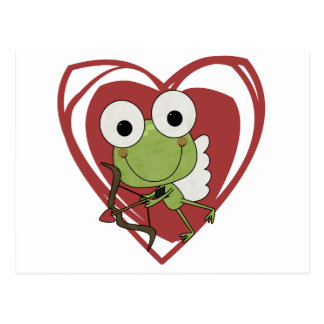 Frog Cupid Valentine T-shirts and Gifts Post Cards