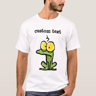 Frog custom text funny toad big eyes T-Shirt