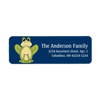 Frog d1 Animal Return Address Labels