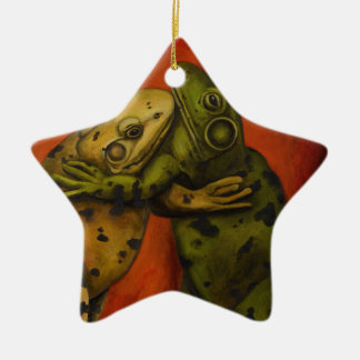 Frog Dancers Ceramic Ornament