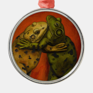 Frog Dancers Metal Ornament