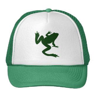 Frog Dark Green Silhouette Trucker Hat