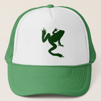 Frog Dark Green Silhouette Trucker Hat