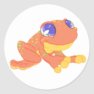 Frog design001 classic round sticker