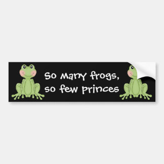 Frog design gifts for Frog Collectors Bumper Sticker