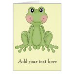 Frog design gifts for Frog Collectors Greeting Cards
