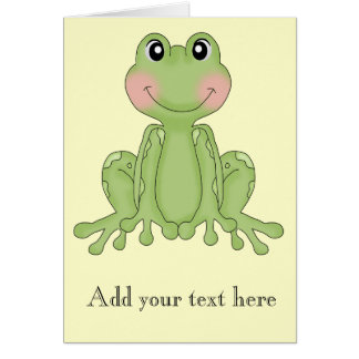 Frog design gifts for Frog Collectors Stationery Note Card