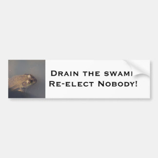 frog Drain the swamp Bumper Sticker