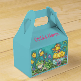 FROG & DUCK EASTER EGG GABLE FAVOR BOX Personalize