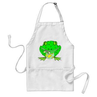 Frog Eating Bug Adult Apron