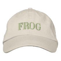 FROG EMBROIDERED BASEBALL HAT