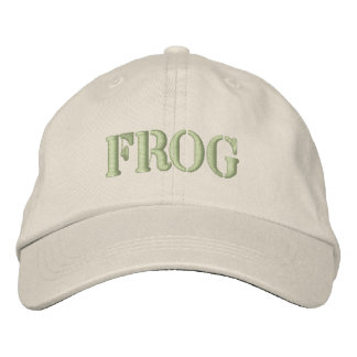 FROG EMBROIDERED HATS