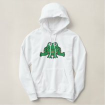 Frog Embroidered Hoodies