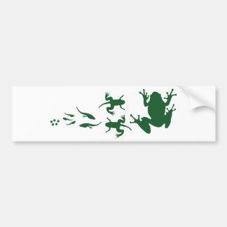frog-evolution.png car bumper sticker