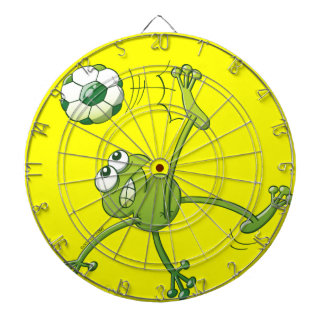 Frog Executing a Bycicle Kick with a Soccer Ball Dart Boards