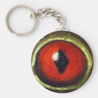 Frog Eye Enlarged Basic Round Button Keychain