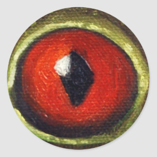 Frog Eye Enlarged Classic Round Sticker