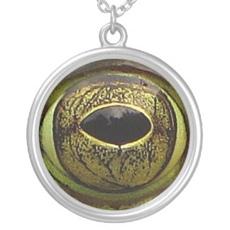 Frog Eye Silver Plated Necklace