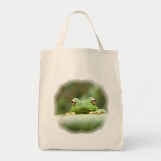 Frog Eyes Grocery Tote Bag