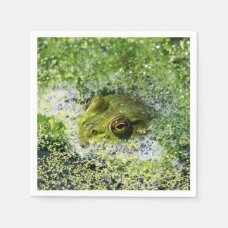 Frog Eyes in a Pond Paper Napkin