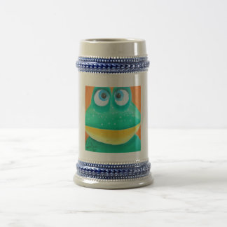Frog face cute illustration picture beer stein