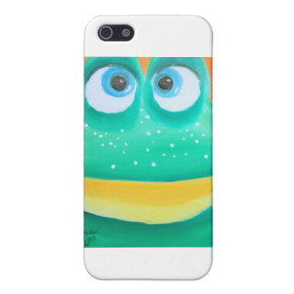 Frog face cute illustration picture case for iPhone SE/5/5s