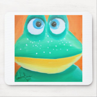Frog face cute illustration picture mouse pad