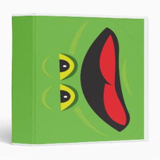 frog face notebook 3 ring binder