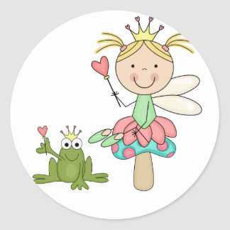 Frog Fairy - Blond T-shirts and Gifts Classic Round Sticker