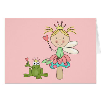 Frog Fairy - Blond T-shirts and Gifts Greeting Card