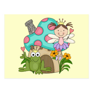 Frog Fairy Toadstool House Tshirts and Gifts Postcard