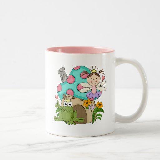 Frog Fairy Toadstool House Tshirts and Gifts Two-Tone Coffee Mug