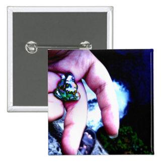 Frog Fall Pinback Button