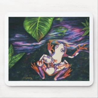 Frog Family-color pencil on paper -1992 Mouse Pad