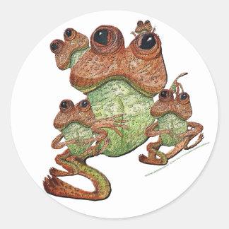 Frog Family Portrait Sticker