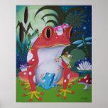 frog family poster