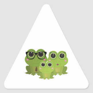 Frog Family Triangle Sticker