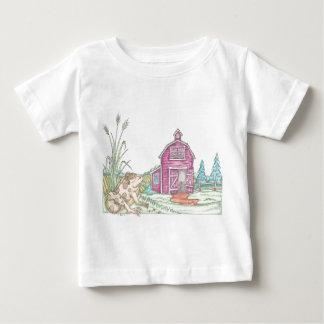 Frog Farm Barn Baby T-Shirt
