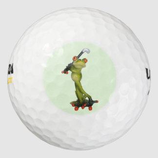 Frog Figurine Golfer Ultra 500 Distance Golf Ball