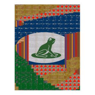 FROG FISH Pet KIDS Colorful GIFTS Art FUN PICNIC Post Card